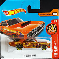 Hot Wheels 2017 Flames 68 Dodge Dart braun
