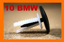 10 BMW bonnet hood boot trunk sound insulation carpet pin fastener clips