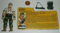 1988 GI Joe Tiger Force Missile Specialist Bazooka v2 Figure File Card *Complete