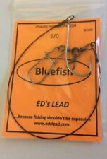 5 bluefish rigs 6/0 hooks wire leader brand new