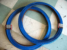 "26"" CITY SLICK Cruiser tire bike 26 x 2.125 BLUE 1 PAIR  26"" x 2.125 ALL BLUE"