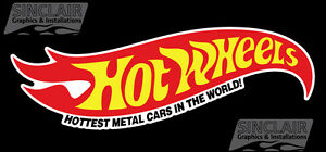 """Hot Wheels Decal-Large Wall Vinyl Graphic!! 28"""" wide"""