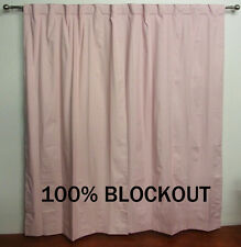 PINK BLOCKOUT curtains Concealed Tab Top PAIR Girls baby babies room 3 pass FULL