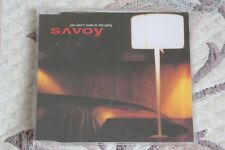 SAVOY (PAL WAAKTAAR of A-HA) - YOU WON'T COME TO THE PARTY (2001) Rare promo CD