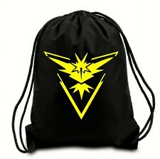 TEAM INSTINCT POKEMON DRAWSTRING BAG,GYM SACK,PE BAG,SWIMMING BAG