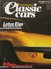 Classic Cars 12/1985 featuring Jaguar, Lola-Aston,Lotus Elan, Austin Healey 3000