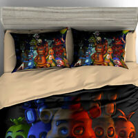 Five Nights At Freddy's Duvet Cover Bedding Set Twin/Queen/King Size Kids FNAF