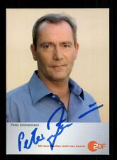 Peter Zimmermann ZDF autografiada mapa original firmado # bc 83396