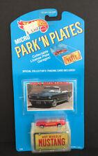 Hot Wheels 1989 Micro Park'N Plates Red Ford Mustang Convertible Nib