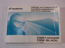 HONDA CBR1000R 2005 OWNER MANUAL FAHRERHANDBUCH MANUEL CONDUCTEUR INSTRUKTIEBOEK
