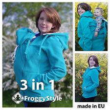3in1 Tragejacke für Tragetuch Tragepullover Umstandsjacke Froggy Style Größe M