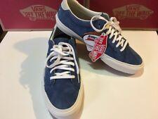 VANS Court DX Pig Suede Blue Obsidian And White Mens Shoe Size 8.5