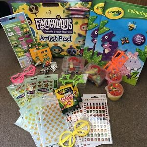 Job Lot of Crayola Creative Party Bag Fillers Stickers Chalk Christmas
