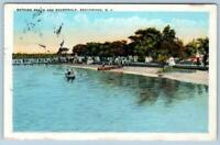 1920's BEACHWOOD NEW JERSEY*NJ*BEACH SCENE & BOARDWALK*VINTAGE POSTCARD