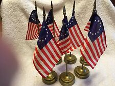 """Betsy Ross Flags W/Base 4""""X6"""" Flags 11 1/2"""" Tall Qty=7"""