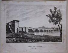 1824-32 PONTE SUL TICINO Trecate Novara litografi Modesto Paroletti Felice Festa