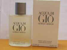 Acqua Di Gio  By Giorgio Armani Men 3.4 oz After Shave Lotion New In Box