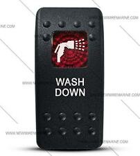 Labeled Contura II Rocker Switch Cover ONLY, Washdown-(Red Window)