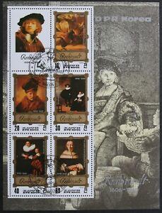 """Korea: Michel Block-Nr. 138 """"Gemälde von Rembrandt"""" aus 1983, gestempelt"""