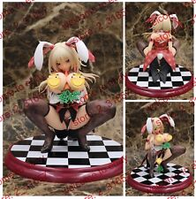 Anime illustration sexy naked big breasts bunny dress maid girl PVC figure nobx