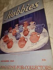 HOBBIES MAGAZINE FOR COLLECTORS  1942 November Pitchers painting firearms ect