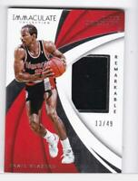 2018-19 Clyde Drexler #/49 Jersey Panini Immaculate Blazers (ding top righ)