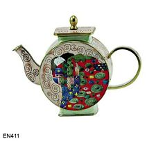 KELVIN CHEN Enamel Copper Hand paint  Miniature Teapot KLIMT HUG