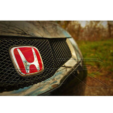 HONDA CIVIC TYPE R FN FN2 FK 2006 - 2011 red H Badge Emblem for front grill