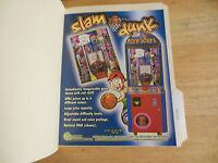SLAM DUNK     ARCADE GAME  FLYER