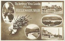 Good Luck from Helensburgh Scotland UK RPPC Real Photo Postcard