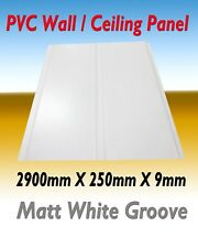 10 PIECES (PACK) PVC CEILING / WALL PANEL  MATT WHITE GROOVE  DESIGN 2900MM
