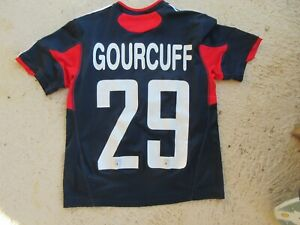 Maillot OL OLYMPIQUE LYONNAIS LYON GOURCUFF n°29 shirt trikot ADIDAS 10 ans