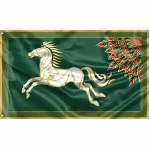 Lord of the Rings Rohan Square Flag LOTR Gondor The Hobbit banner, collectible