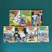 DC Comics Silver Age World's Finest Lot of 7 Comics #135 - #141