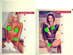 Calendario  2019 da parete adulti  DONNE NUDE - NUOVO 29 x 47 - 6 fogli Colore