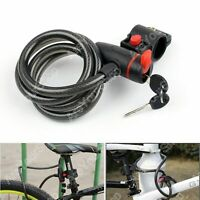 Heavy Duty Coil Security Bicycle Lock Steel Cable Chain Anti Theft For Bike USA