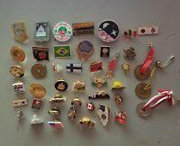 Vintage Pin Pinback Lot of 40+, Variety, States, Travel, Tokens, Etc.