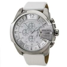 DIESEL Mega Chief Chronograph White Dial White Leather Men's Watch DZ4292