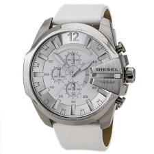DIESEL Mega Chief Chronograph White Dial White Leather Men's Watch DZ4292