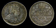 Canada 1903H Silver 5 Five Cents King Edward VII Toned VF-25 Small H