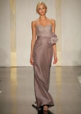 Noir by Lazaro Taupe Sweetheart Strapless  Lace Organza A-line Gown Wedding 14