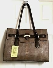 LANY BROWN LARGE TOTE