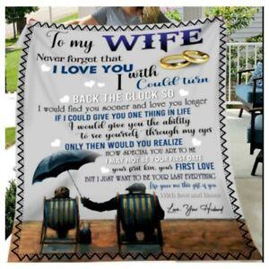 To My Wife I Love You Sherpa Fleece Blanket Hot 2021