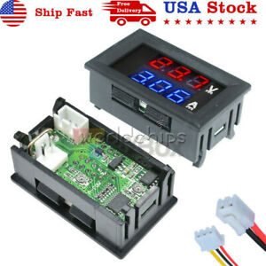 DC 100V 10A Blue+Red LED Voltmeter Ammeter Dual Digital Volt Amp Meter Gauge