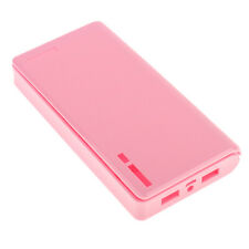 Pink-20000mah Power Bank Case Kit 6x18650 Battery Charger DIY