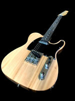 GUITARS-CLOSEOUT-NATURAL VINTAGE STYLE 6 STRING ELECTRIC GUITAR LIGHTWEIGHT