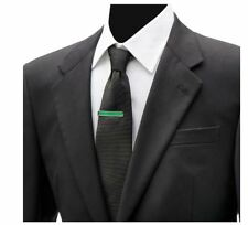 """By Ox & Bull Trading Co. Christmas """"Deck the Halls"""" Hidden Message Green Tie Bar"""