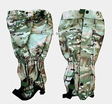 British Army Style MTP Camo Waterproof Gaiters, NEW