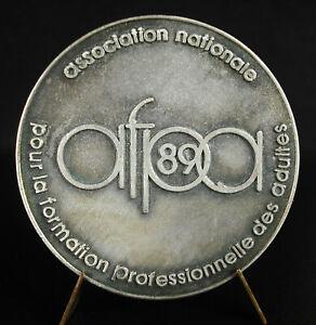 Médaille 1989 AFPA pour le développement de l'homme 70 mm 106 g