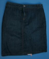 Banana Republic Stretch Sz 8 Denim Skirt Blue Jean Straight Womens Pencil